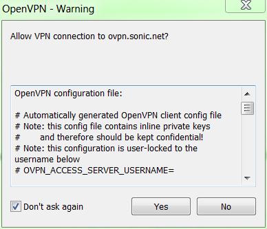 VPN Service – Sonic